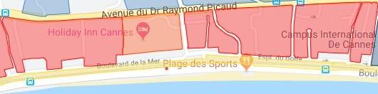 Faisabilité parcelles Cannes Ouest - Bord de mer