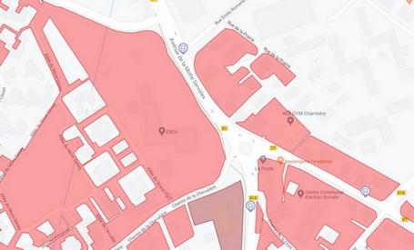 Parcelles Chambéry potentiel foncier Avenue Motte Servolex