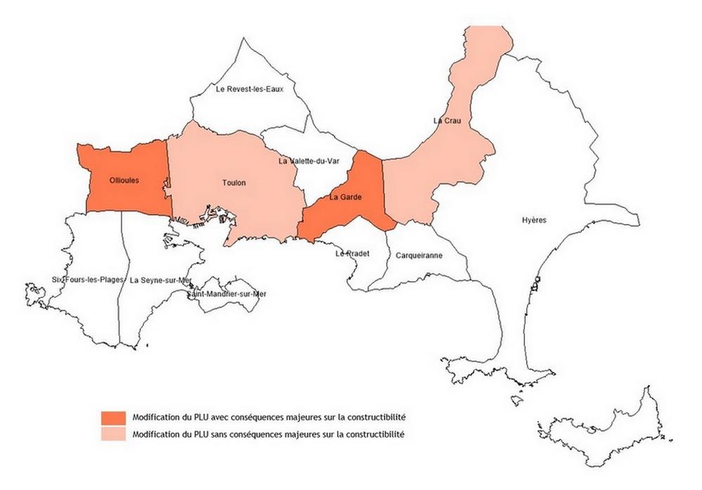 Toulon Métropole : 4 communes ont vu leur PLU changer en 2019